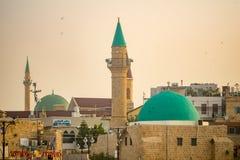 Sinan Basha Mosque in de oude stad van Acre Akko stock foto's