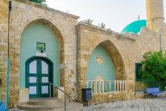 Sinan Basha Mosque in de oude stad van Acre Akko stock fotografie