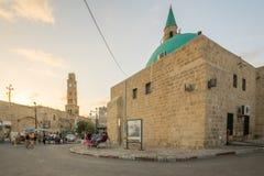 Sinan Basha Mosque en de Klokketoren, Acre royalty-vrije stock afbeelding