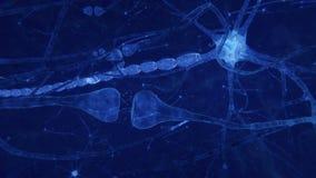 Sinapses e axones que transmitem sinais bondes ilustração royalty free