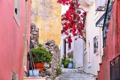Sinarades village, Corfu stock photography
