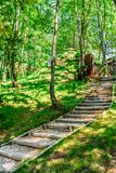 Sinca Veche, Fagaras, Ρουμανία - πορεία μέσω των ξύλων Στοκ φωτογραφία με δικαίωμα ελεύθερης χρήσης