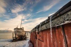Sincelos e o barco Fotos de Stock Royalty Free