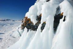 Sincelos nas rochas Imagem de Stock