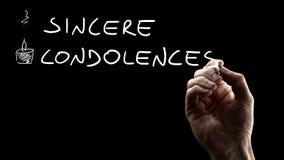 Sincere Condolences Stock Image