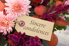 Sincere condolences Royalty Free Stock Photos