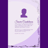 Sincere Condolences vector lettering in abstract style, place for text and photo Stock Photography