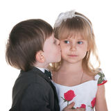 Sincere kiss Royalty Free Stock Photography