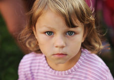 Sincere look of the child. Sincerity in a look of the girl Stock Image
