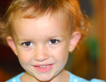 Sincere portrait. Of a little girl stock image