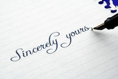 Sincerely yours royalty free stock images