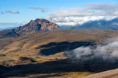 Sinchulagua Volcano, Andean Highlands of Ecuador, South America Royalty Free Stock Photography