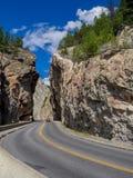 Sinclair Canyon en parc national de Kootenay Image stock