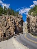 Sinclair Canyon i den Kootenay nationalparken Arkivfoton