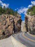 Sinclair Canyon in Kootenay National Park Royalty Free Stock Image