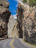 Sinclair Canyon in Nationalpark Kootenay Lizenzfreie Stockfotos