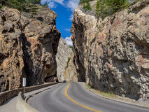 Sinclair Canyon nel parco nazionale di Kootenay Fotografia Stock