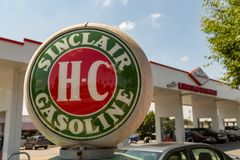 Sinclair Gas Pump bij de Heuvel van Turkije Stock Foto