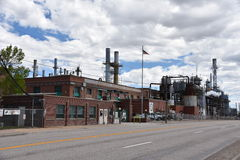Sinclair Refinery in Wyoming Stock Afbeelding