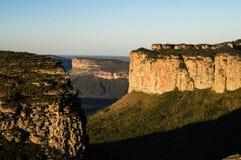 Sincora范围,金刚石高原(Chapada Diamantina)的小山 免版税库存图片