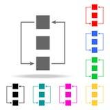 Sincronice las carpetas - icono plano mínimo Elementos en los iconos coloreados multi para los apps móviles del concepto y del we stock de ilustración