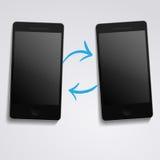 Sincronização do telefone Imagens de Stock