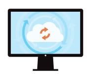 Sincronización de la copia de seguridad de datos Foto de archivo libre de regalías