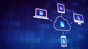 Sincronización de la nube Imagen de archivo libre de regalías