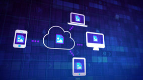 Sincronización de la nube Fotografía de archivo libre de regalías