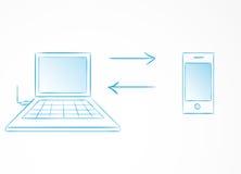 Sincronización del teléfono con el ordenador libre illustration