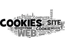 Sind Plätzchen-Übel, welcher Service Plätzchen durchführen in einer web- browserwort-Wolke tun stock abbildung