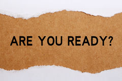 Sind Sie bereit? Lizenzfreies Stockbild