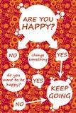 Sind Sie glücklich? lizenzfreie abbildung