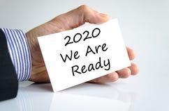 2020 sind wir bereites Textkonzept Lizenzfreie Stockfotos