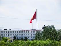 Sindaco della città di Oš Monumento a Lenin da lontano immagini stock