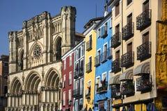 Sindaco della plaza - Cuenca - Spagna Immagini Stock Libere da Diritti