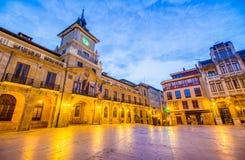 Sindaco della plaza di Oviedo Immagine Stock Libera da Diritti