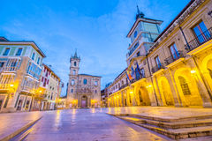 Sindaco della plaza di Oviedo Fotografia Stock Libera da Diritti