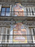 Sindaco della plaza a Madrid Fotografia Stock Libera da Diritti