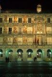 Sindaco della plaza, notte immagine stock