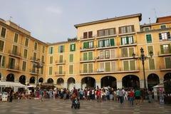 Sindaco della plaza in Palma de Mallorca immagine stock libera da diritti