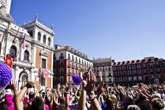 Sindaco della plaza a Valladolid Fotografie Stock Libere da Diritti