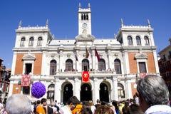 Sindaco della plaza a Valladolid Immagini Stock