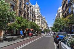 Sindaco Street, Madrid Fotografia Stock
