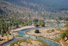 Sindh River, Kashmir, India. Sindh River is floating through the little villages of Kashmir Royalty Free Stock Photo