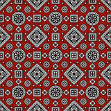 Sindhi Ajrak-Muster Stockfotos