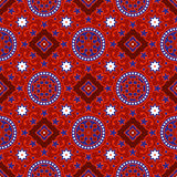 Sindhi Ajrak Pattern Vector Stock Photography