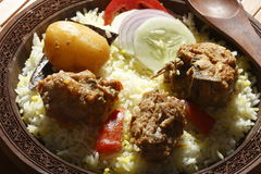 Sindhi Biryani - μια μη -μη-veg ινδική κουζίνα Στοκ φωτογραφία με δικαίωμα ελεύθερης χρήσης