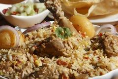 Sindhi Biryani - μια μη -μη-veg κουζίνα Sindhi πιάτων Στοκ εικόνες με δικαίωμα ελεύθερης χρήσης