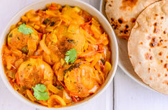 Sindhi meal- Aani curry with roti Royalty Free Stock Photography